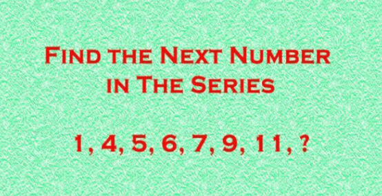 Find The Next Number In This Series